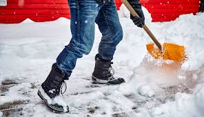 man shovelling snow, winter boots, driveway, shovel, orthotics